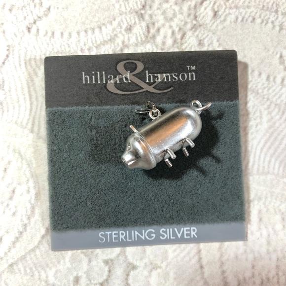 Vintage Jewelry - Little vintage sterling silver piggy bank charm